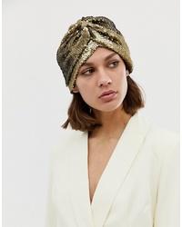 Женская золотая шапка от ASOS DESIGN