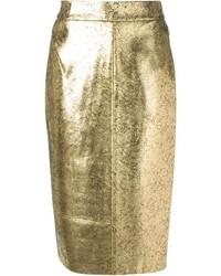 Золотая юбка-карандаш