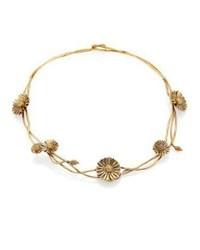Женское золотое колье с цветочным принтом от Aurelie Bidermann