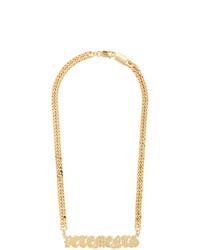 Золотое колье от Vetements