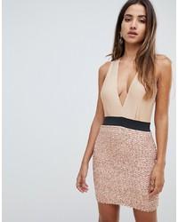 Золотое облегающее платье с пайетками от Scarlet Rocks