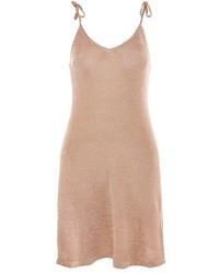 Золотое платье-комбинация