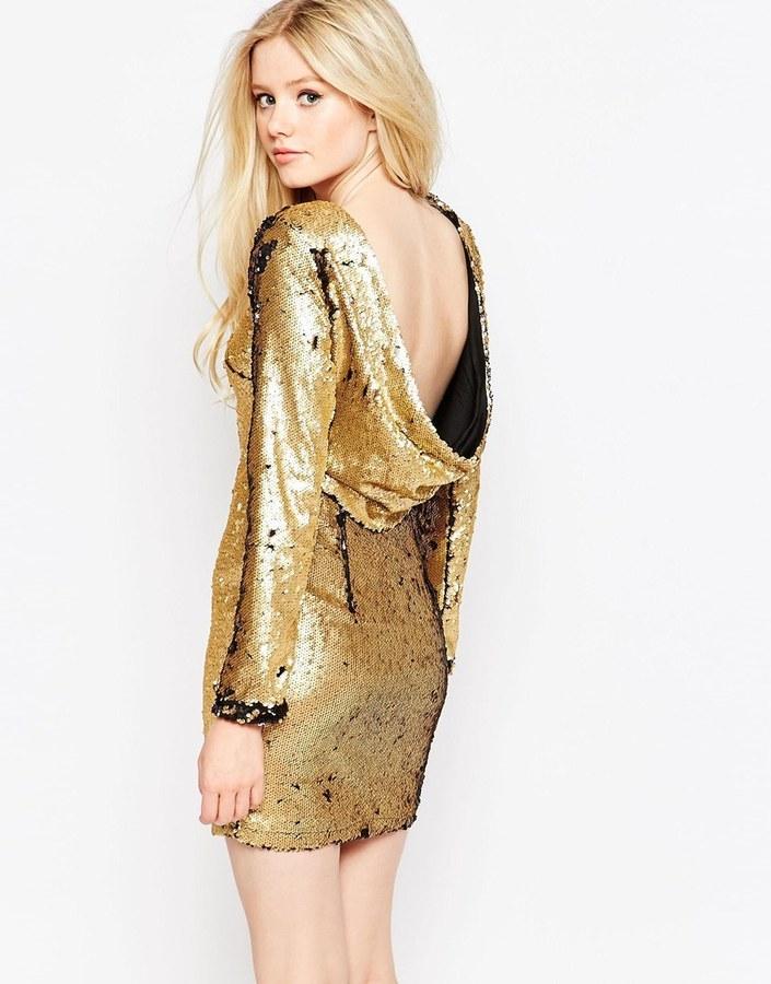 Купить платье золотые пайетки