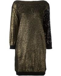 Золотое платье-свитер