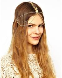 Золотое урашение для волос от Asos