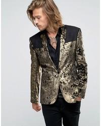 Золотой бархатный пиджак