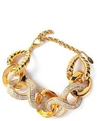 Золотой браслет с украшением