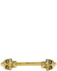 Мужской золотой браслет от Alexander McQueen