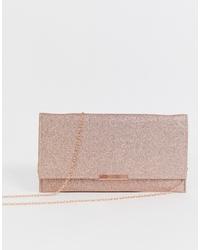 Золотой кожаный клатч от Accessorize