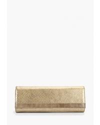Золотой кожаный клатч от D.Angeny