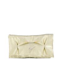 Золотой кожаный клатч от Giuseppe Zanotti Design
