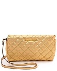 Женский золотой кожаный стеганый клатч от MICHAEL Michael Kors