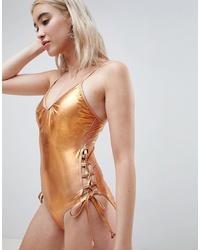 Золотой купальник от Pieces