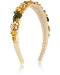 Золотой ободок/повязка с украшением от Dolce & Gabbana