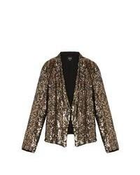 Золотой пиджак с пайетками