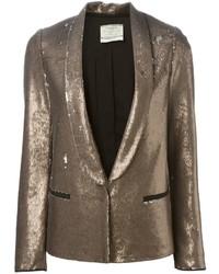 Женский золотой пиджак с пайетками от Forte Forte