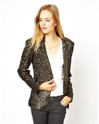 Женский золотой пиджак с пайетками от Gestuz