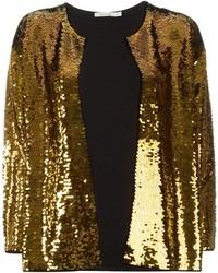 Женский золотой пиджак с пайетками от Mes Demoiselles