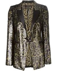 Женский золотой пиджак с пайетками от Roberto Cavalli