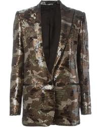 Женский золотой пиджак с пайетками от Tagliatore