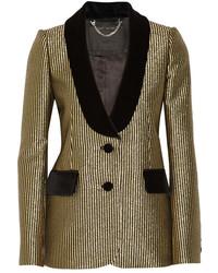 Женский золотой пиджак от Marc Jacobs