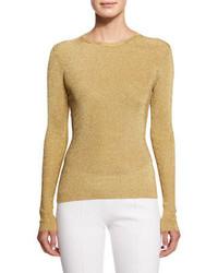 Золотой свитер с круглым вырезом