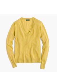 Золотой свитер с v-образным вырезом