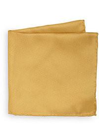 Золотой шелковый нагрудный платок