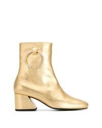 Золотые кожаные ботильоны от Dorateymur