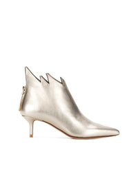 Золотые кожаные ботильоны от Francesco Russo