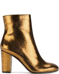 Золотые кожаные ботильоны от L'Autre Chose