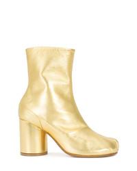Золотые кожаные ботильоны от Maison Margiela