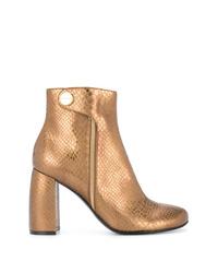 Золотые кожаные ботильоны от Stella McCartney