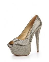 Золотые кожаные туфли от Schutz