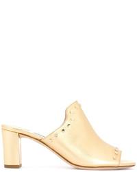 Женские золотые сабо от Jimmy Choo