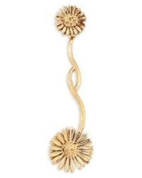 Женские золотые серьги с цветочным принтом от Aurelie Bidermann