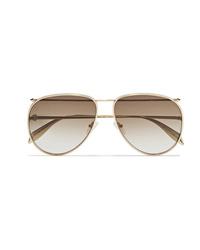 Женские золотые солнцезащитные очки от Alexander McQueen