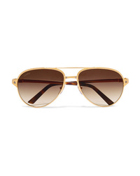 Женские золотые солнцезащитные очки от Cartier Eyewear