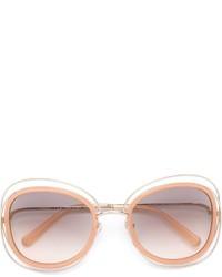 Женские золотые солнцезащитные очки от Chloé