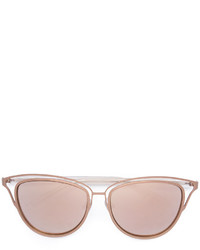 Женские золотые солнцезащитные очки от Monique Lhuillier