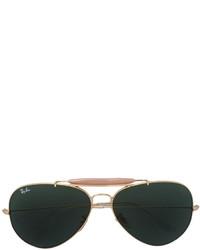 Мужские золотые солнцезащитные очки от Ray-Ban