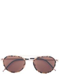 Женские золотые солнцезащитные очки от Thom Browne
