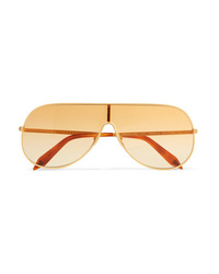 Женские золотые солнцезащитные очки от Victoria Beckham