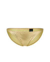 Золотые трусики бикини от Norma Kamali