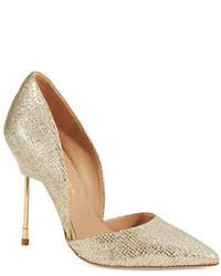 Золотые туфли с пайетками