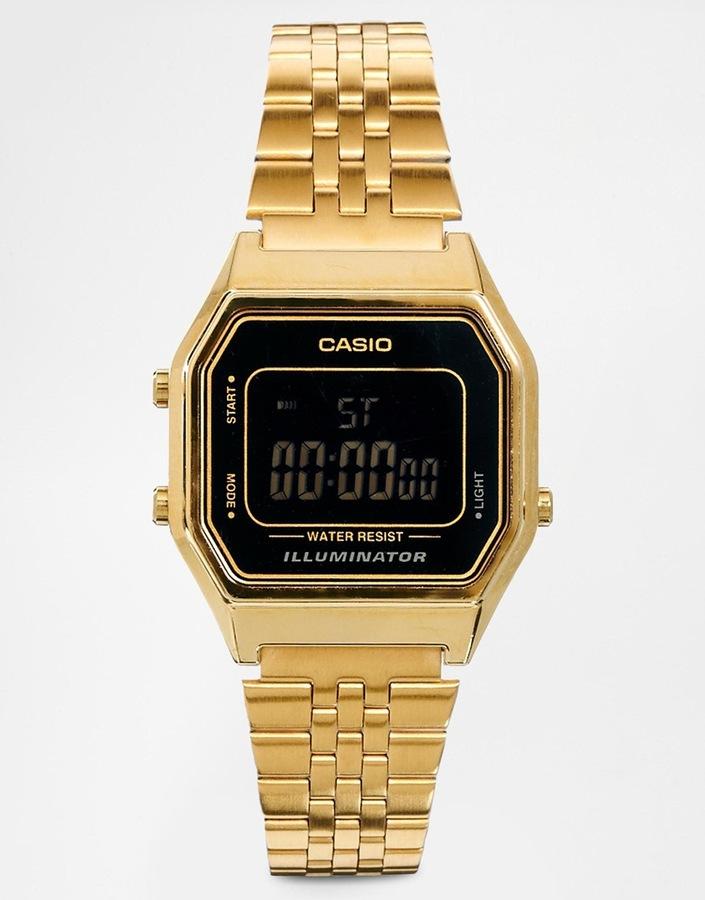 Женские золотые часы от Casio   Где купить и с чем носить 80298b713c0