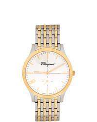 Мужские золотые часы от Salvatore Ferragamo