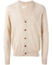 Сочетание Темно-коричневого шерстяного пиджака и кардигана поможет реализовать в твоем образе классический мужской стиль.
