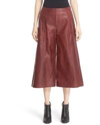 кожаные брюки кюлоты original 9918408