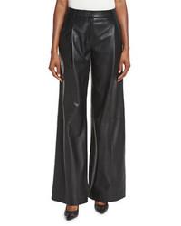 Кожаные широкие брюки